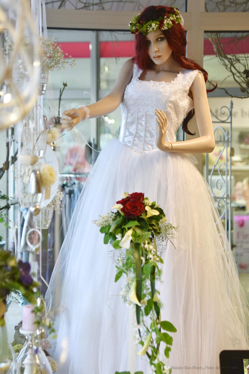 Hochzeitsstrauß, Haarkranz